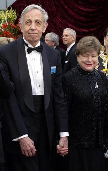 John and Alicia Nash at the Academy Awards in 2001.