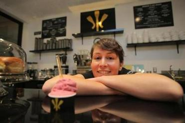 """We definitely try to stay with traditional flavors or those that remind you of Italy,"" Morgan Morano says of the options (top) at Morano Gelato."