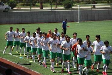 The Syrian National Soccer Team in Exile trained in Turkey.