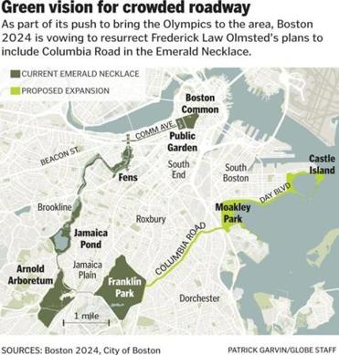 Boston 2024 Pledges To Complete Olmsted S Vision Of Columbia Road