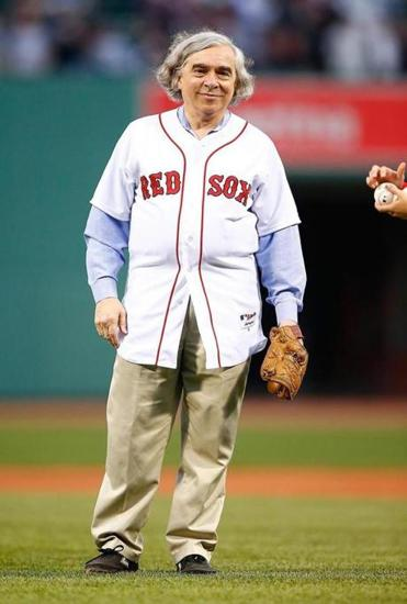 Moniz threw out the first pitch at Fenway for a Red Sox-Yankees game.