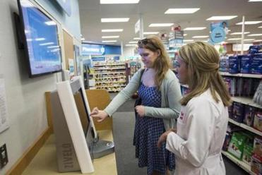 CVS MinuteClinics use a kiosk check-in system and send waiting patients a text when it's time for their appointment.