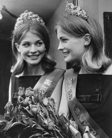 Candice Bergen, then 18,  posed after being named Miss University of Pennsylvania in 1963.