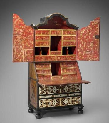 A mid-18th-century desk and bookcase from Mexico.