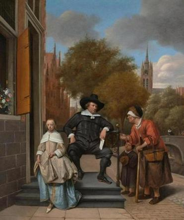 One of the show's most famous paintings is Jan Steen's work known as ''The Burgher of Delft and His Daughter.''