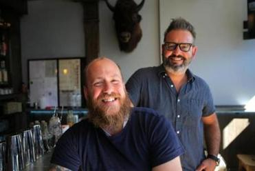 Lone Star Taco Bar owners Aaron Sanders and Max Toste.
