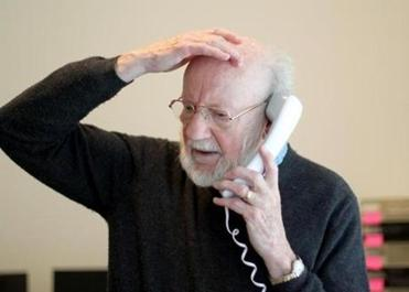 Scientist William Campbell talked on the phone at his home in North Andover, Mass., on Monday.