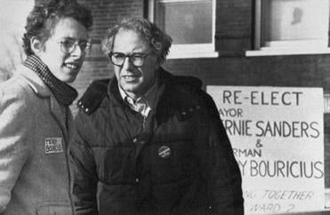 Terry Bouricius with Bernie Sanders in 1983.