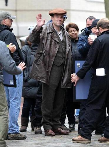 "Actor and director Ben Affleck in full costume on the set of ""Live By Night"" in Lawrence."
