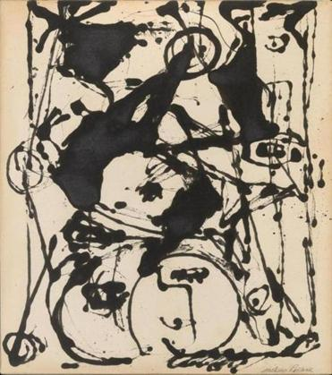 "Jackson Pollock's ""Black and White Painting II,"" from 1951."
