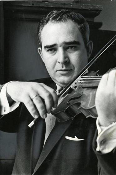 Mr. Silverstein played violin in an undated photo.