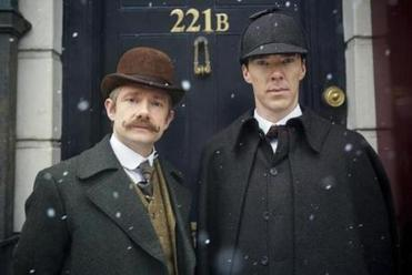 From left: Martin Freeman as Watson and Benedict Cumberbatch as Sherlock.