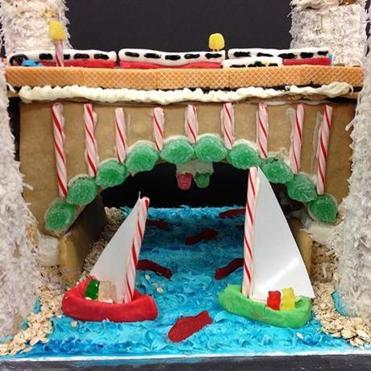 The Community Design Resource Center of Boston Gingerbread House Displays.