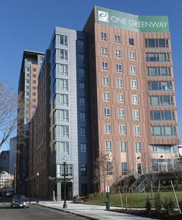 66 Hudson St. is part of a new two-building complex off Kneeland Street in Chinatown.
