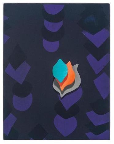 "Michael Krueger's ""Flame"" from his show ""Meditation Is Not What You Think,"" at Steven Zevitas Gallery."