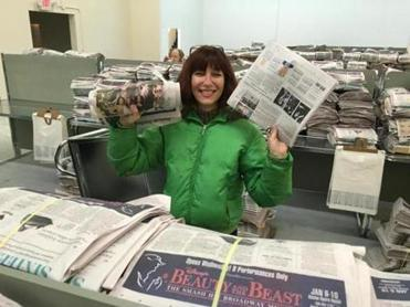 Globe reporter and columnist Bella English worked at the Pembroke distribution center on Sunday.