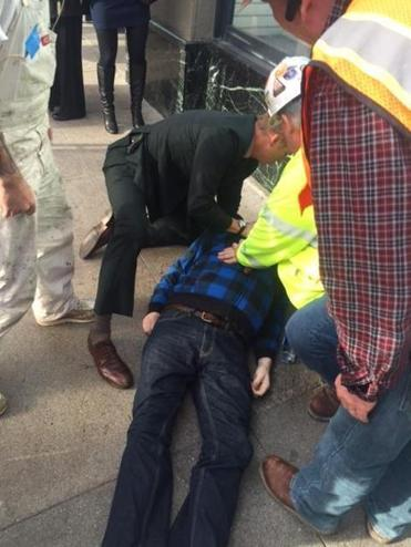 Athenahealth chief executive Jonathan Bush administered CPR to a man in San Francisco.