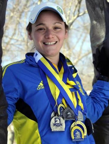 Becca Pizzi has finished 15 Boston Marathons.