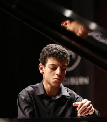 Amir Siraj (pictured performing at the Cliburn International Junior Piano Competition in 2015) is a Brookline High School senior.