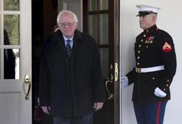 Senator Bernie Sanders had a one-on-one meeting with President Obama at the White House on Wednesday.