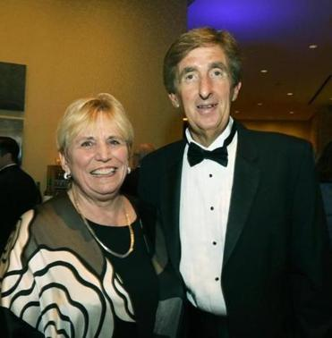 5-16-2015 Boston, Mass. 500 guests attended Suffolk University Commencement Dinner held at the InterContinental Hotel. L. to R. are New Suffolk University President Margaret McKenna with Suffolk Vice President John Nucci of East Boston. Photo by Bill Brett for boston.com