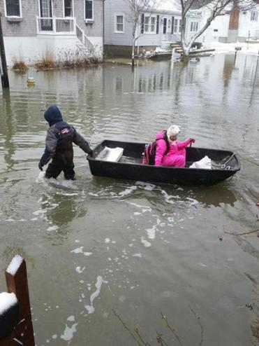 After storm, Scituate girl travels to school by boat - The ...