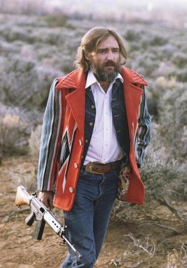 "Dennis Hopper in a scene from ""The American Dreamer,"" Lawrence Schiller and L.M. Kit Carson's meta-documentary."