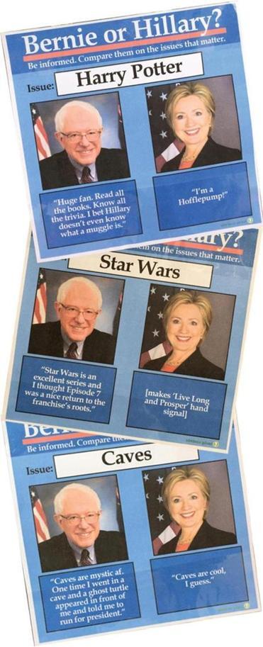 BernievsHillary with 'bernie or hillary?' meme, the joke's over the boston globe