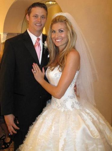 Warning: Less than 1.75 columns - for Names - Newlyweds Clay Buchholz and Lindsay Clubine at Trump. (handout)