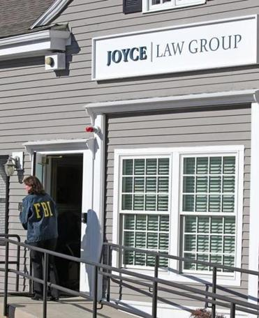 Brian Joyce's law office was raided by FBI agents last week.