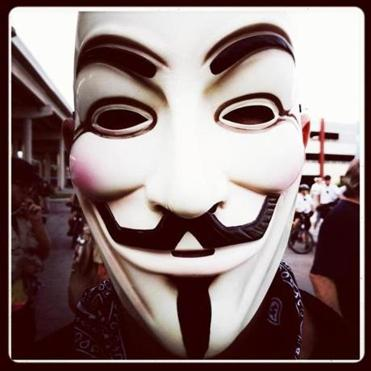 The authorities say Martin Gottesfeld is connected to the hacking group Anonymous, whose icon is the Guy Fawkes mask.