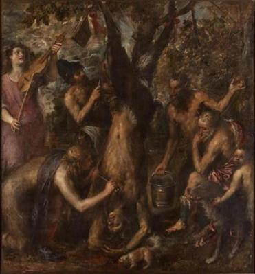 "Titian's painting ""The Flaying of Marsyas"" is on view in ""Unfinished: Thoughts Left Visible"" at the Met Breuer in New York."