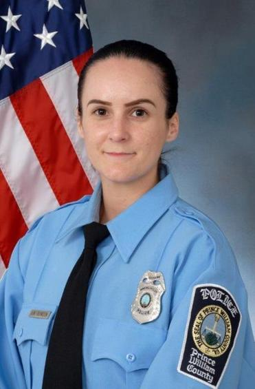 Officer Ashley Guindon of the Prince William County (Virginia) Police Department.