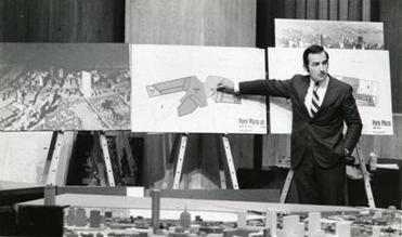 Robert T. Kenney spoke during a hearing at Boston City Hall on the Park Plaza renewal project.