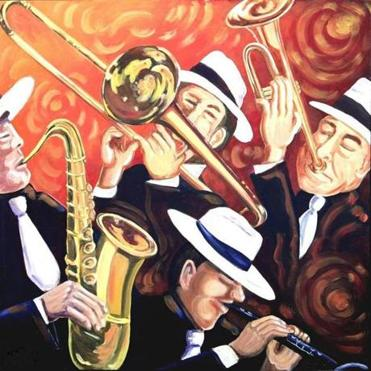 Artist Renee Schneider's exhibition celebrates jazz.