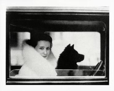 "Lotte Jacobi's ""Lil Dagover With Her Shih Tzu, Berlin."""