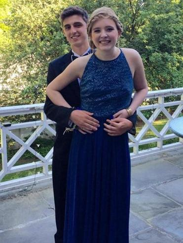 Catherine Malatesta and Peter Clifford on prom night, May 29, 2015. Catherine died weeks later of a rare cancer.
