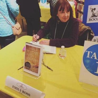 Emily Ross at a book signing.