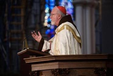 Cardinal Sean P. O'Malley addressed the congregation during a prayer service commemorating the Armenian genocide at the Cathedral of the Holy Cross on Saturday.