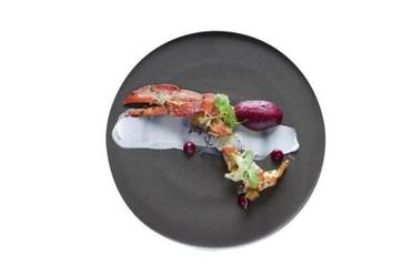 Twin Farms' Maine lobster, coconut, beetroot, and citrus fennel.