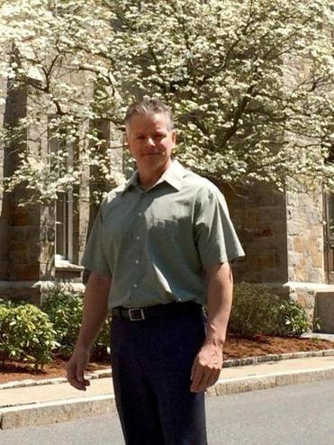 Michael Vaudreuil, 54, works as a custodian at Worcester Polytechnic Institute, which on Saturday becomes his alma mater.