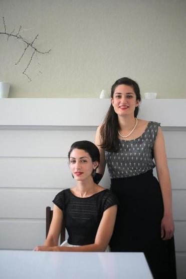 Katrina (left) and Lucia Jazayeri at Juliet, the restaurant Katrina co-owns in Somerville.