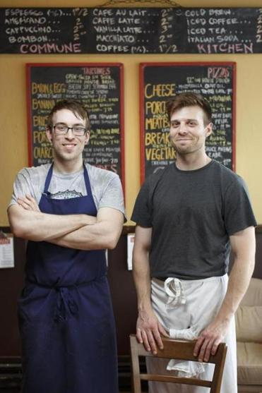 Chef Justin Demers and Richard Niedzwiecki, co-owners of Commune Kitchen in Arlington.