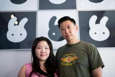 July 20, 2016 - Olivia Kim (left) (cq) and John Kim (right) (cq) at OliToki in Allston. Photo Credit: Justin Saglio. Section: Lifestyle. Reporter: Cindy Cantrell.