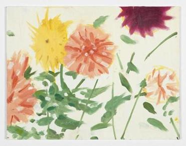 """Late Summer Flowers,"" by Alex Katz, at the Center for Maine Contemporary Art."