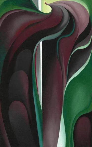 "Georgia O'Keeffe's ""Jack-in-Pulpit Abstraction, No. 5."""