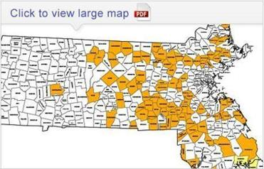 Mass Now In Longterm Drought With No End In Sight The Boston - Map of ma towns