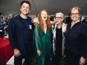 From left: Nico Muhly, Lauren Ambrose,  Phyllis Hoffman, and BU College of Fine Arts Dean Lynne Allen.