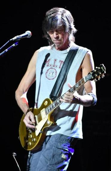 Tom Scholz Of The Band Boston On Stage As Marked Its 40th Anniversary With