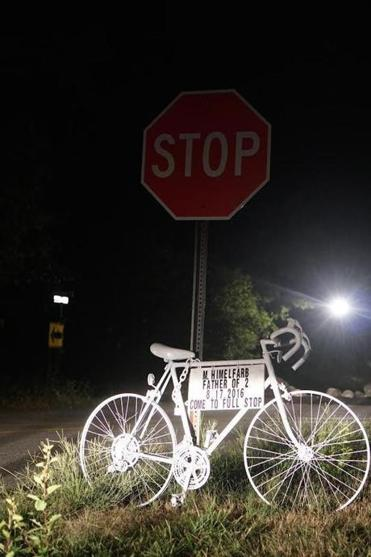 "A ""ghost bike"" was set up in remembrance of a cyclist killed in Lincoln last week."